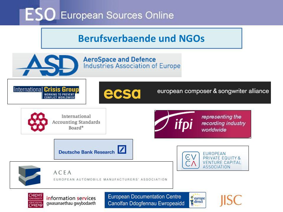 Berufsverbaende und NGOs