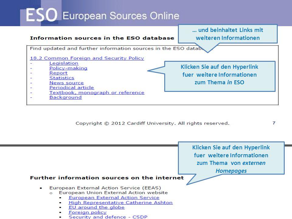 … und beinhaltet Links mit weiteren Informationen Klicken Sie auf den Hyperlink fuer weitere Informationen zum Thema in ESO Klicken Sie auf den Hyperlink fuer weitere Informationen zum Thema von externen Homepages