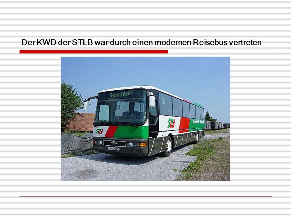 Der KWD der STLB war durch einen modernen Reisebus vertreten