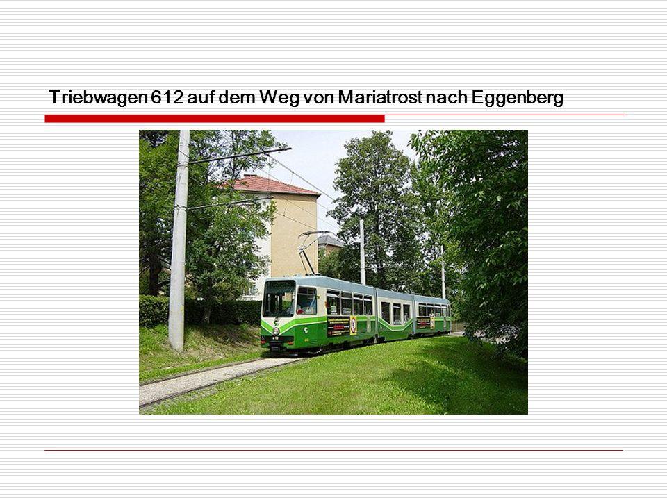 Triebwagen 612 auf dem Weg von Mariatrost nach Eggenberg