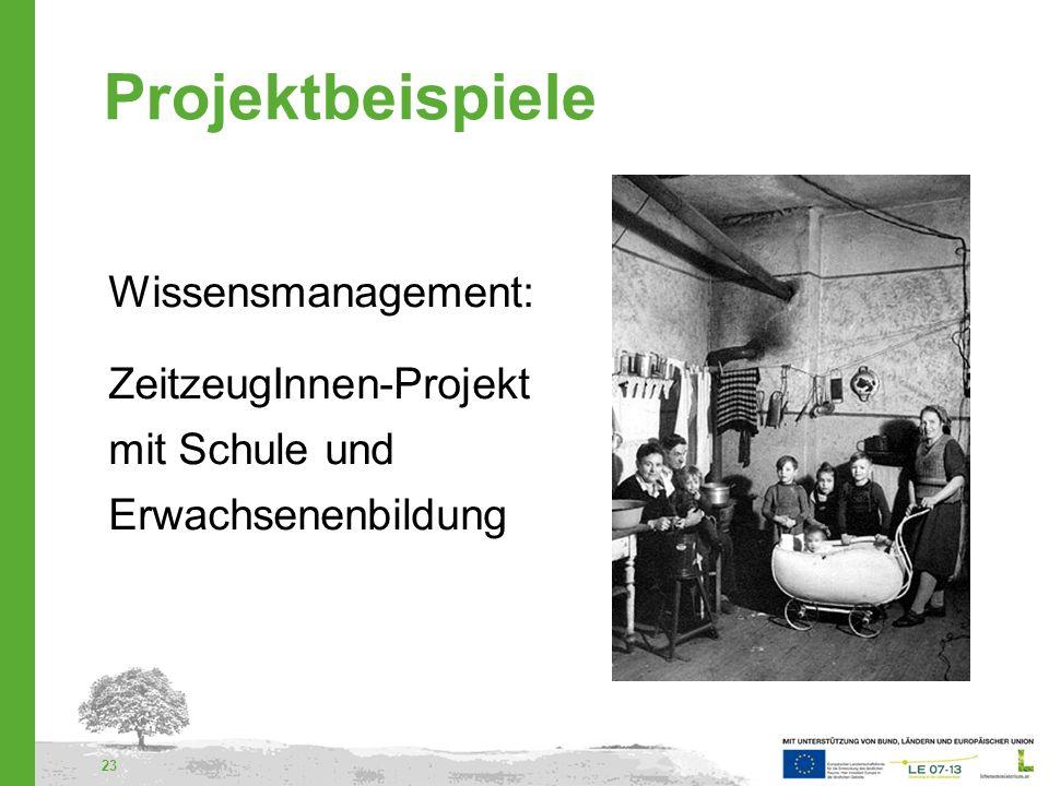 24 Projektbeispiele Regionaler Qualifizierungs- verbund