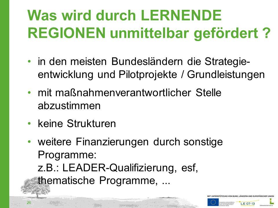 27 Projektträger In den meisten Bundesländern: Für die Strategieentwicklung: LEADER-Gruppe Für Projekte: Juristische Personen