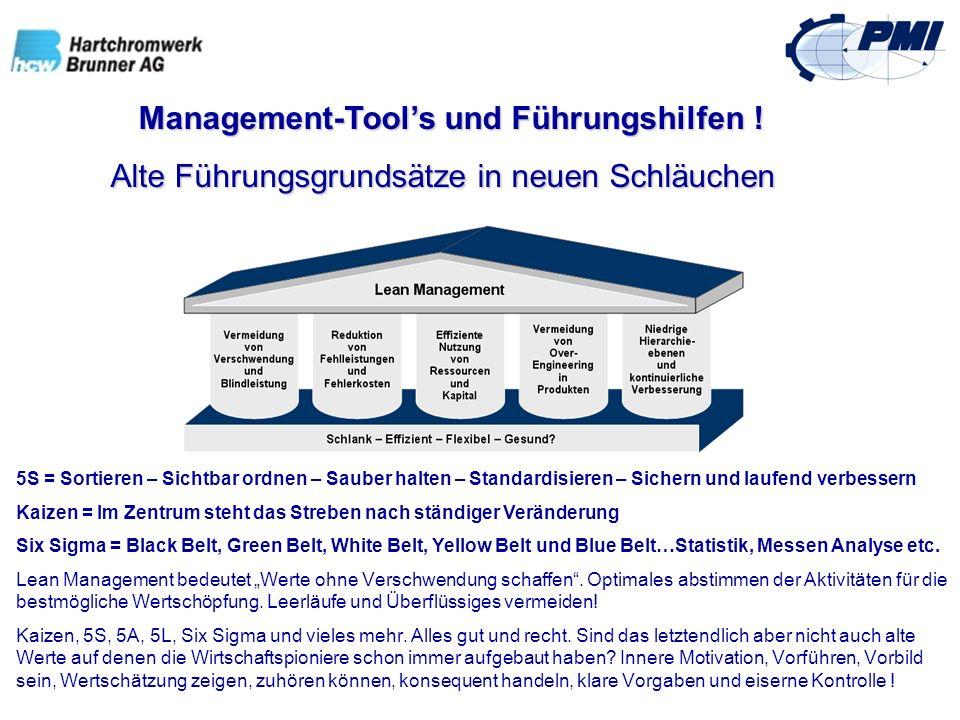 Management-Tools und Führungshilfen ! Management-Tools und Führungshilfen ! Alte Führungsgrundsätze in neuen Schläuchen Alte Führungsgrundsätze in neu