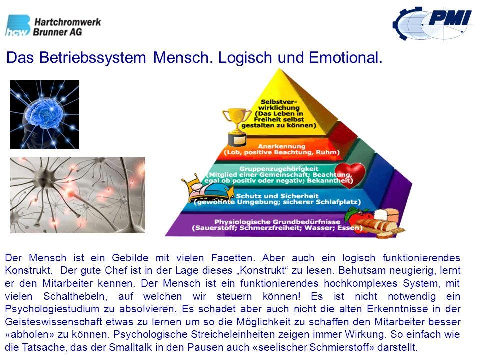 Das Betriebssystem Mensch. Logisch und Emotional. Der Mensch ist ein Gebilde mit vielen Facetten. Aber auch ein logisch funktionierendes Konstrukt. De