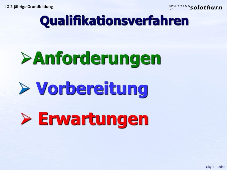 Qualifikationsverfahren Anforderungen Anforderungen Vorbereitung Vorbereitung Erwartungen Erwartungen ©by A.