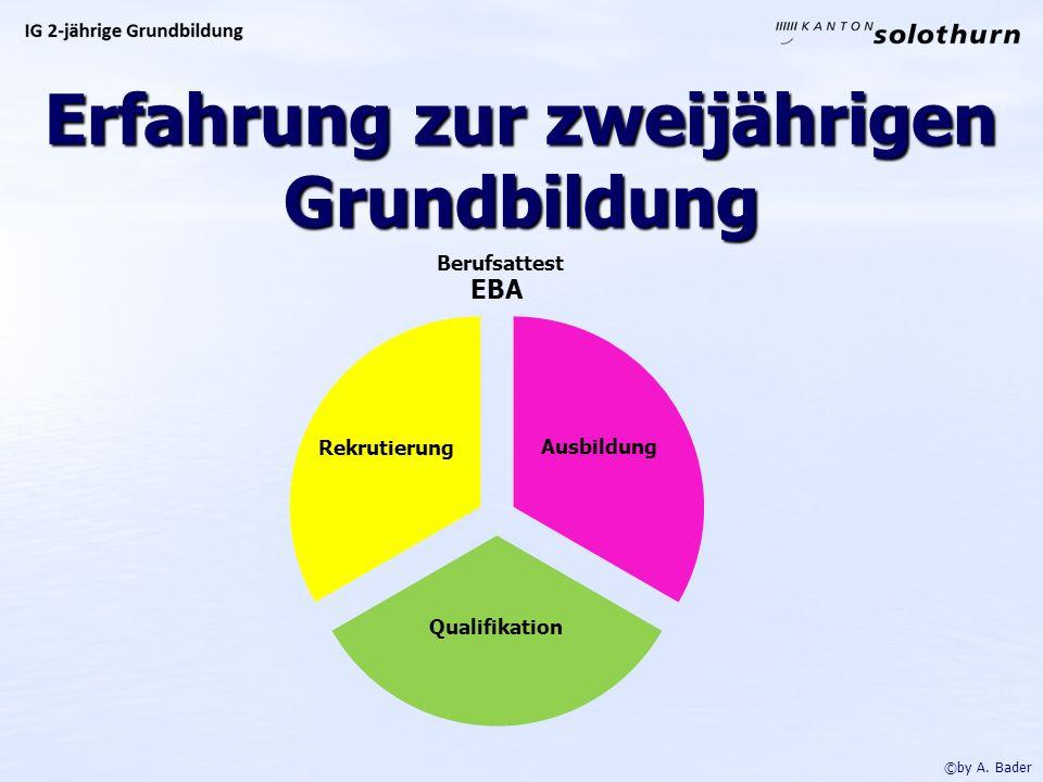Erfahrung zur zweijährigen Grundbildung ©by A. Bader