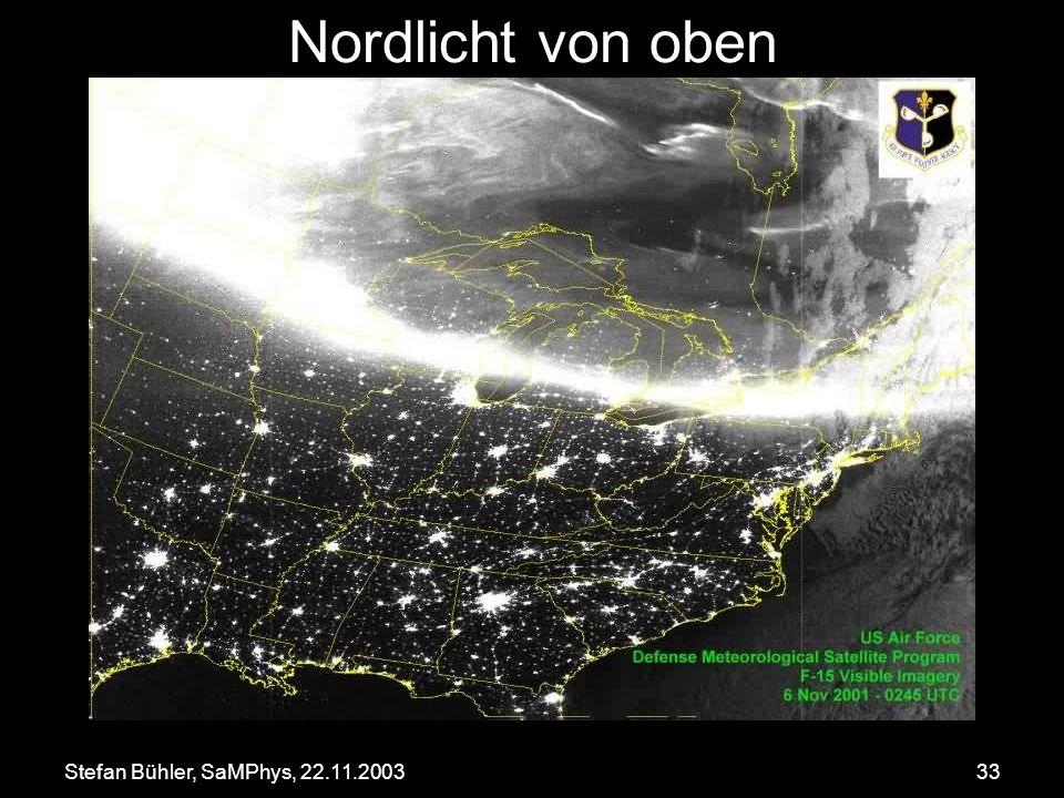 Stefan Bühler, SaMPhys, 22.11.200333 Nordlicht von oben