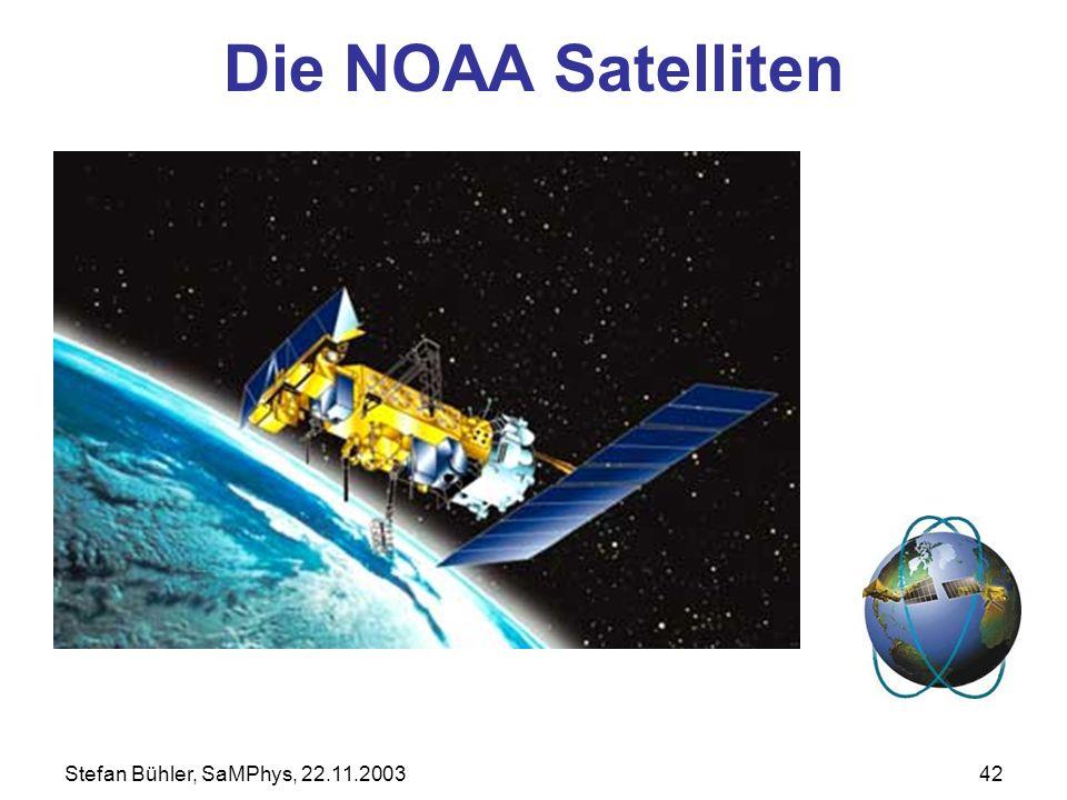 Stefan Bühler, SaMPhys, 22.11.200342 Die NOAA Satelliten