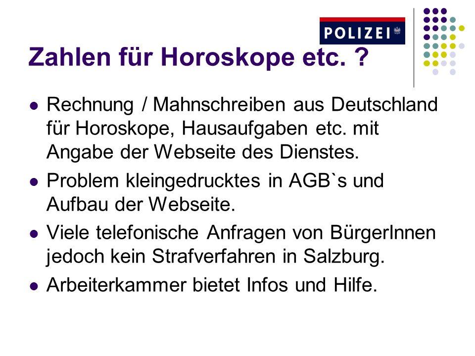 Zahlen für Horoskope etc.Rechnung / Mahnschreiben aus Deutschland für Horoskope, Hausaufgaben etc.