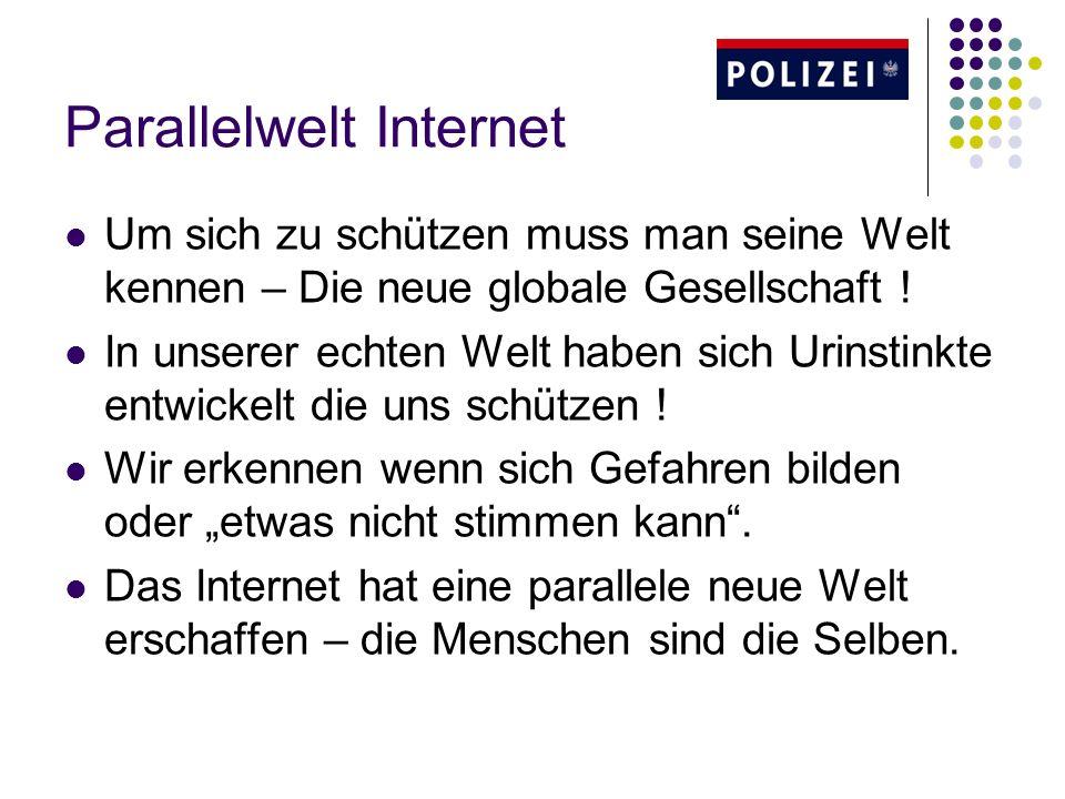 Parallelwelt Internet Um sich zu schützen muss man seine Welt kennen – Die neue globale Gesellschaft ! In unserer echten Welt haben sich Urinstinkte e