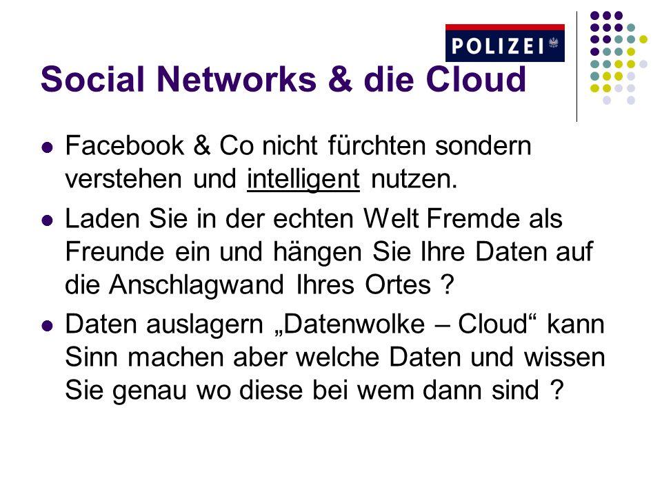 Social Networks & die Cloud Facebook & Co nicht fürchten sondern verstehen und intelligent nutzen.