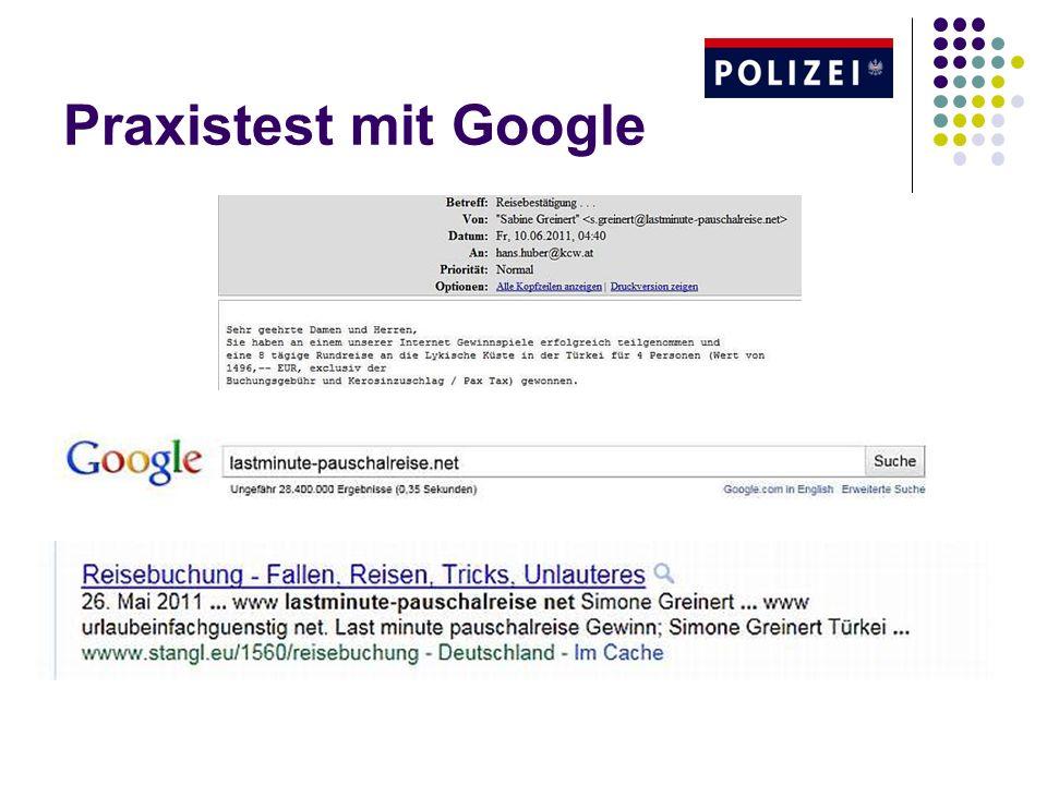 Praxistest mit Google