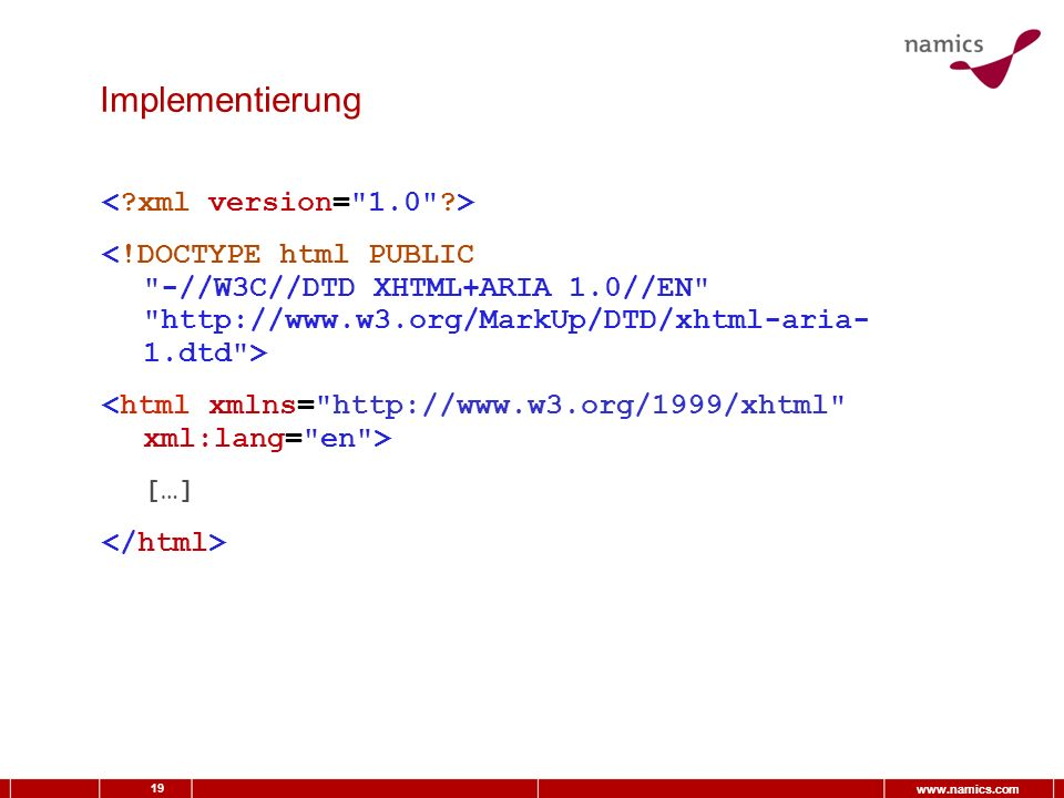 19 www.namics.com Implementierung […]