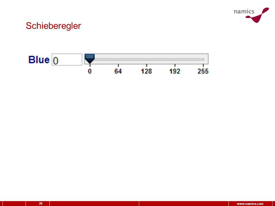 28 www.namics.com Schieberegler
