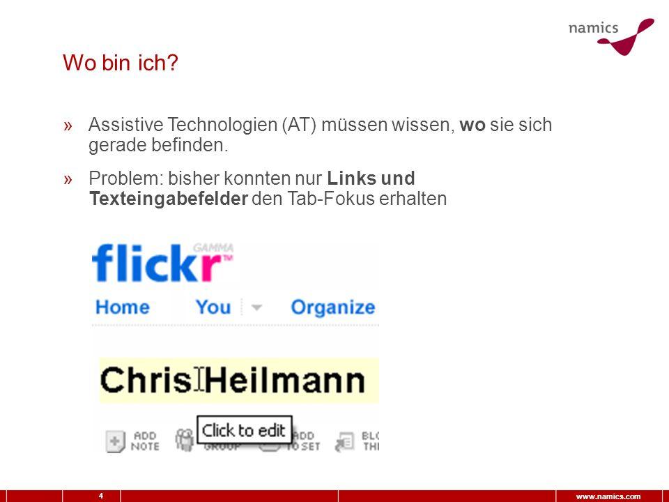4 www.namics.com Wo bin ich.