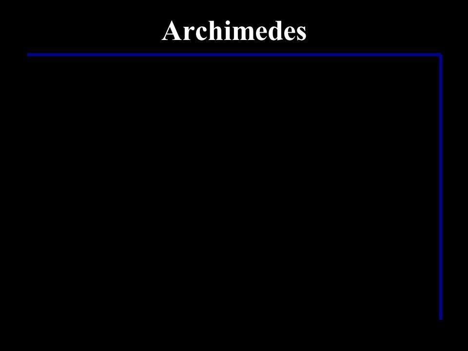 Was hat Archimedes noch alles gemacht? …es wird vermutet, dass Archimedes noch eine ganze Menge militärischer Maschinen wie zum Beispiel… …den sogenan