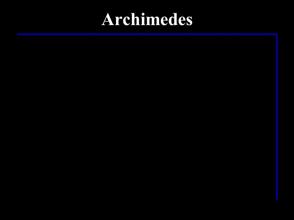 Archimedes ……Aha! Er war also Physiker……. …doch was hat er entdeckt???