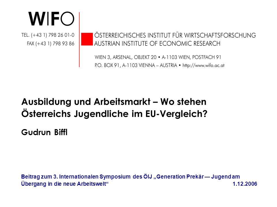 Anteil der AusländerInnen nach Schultyp und Staatsangehörigkeit (2002/03) Q: ST.AT., WIFO-Berechnungen.