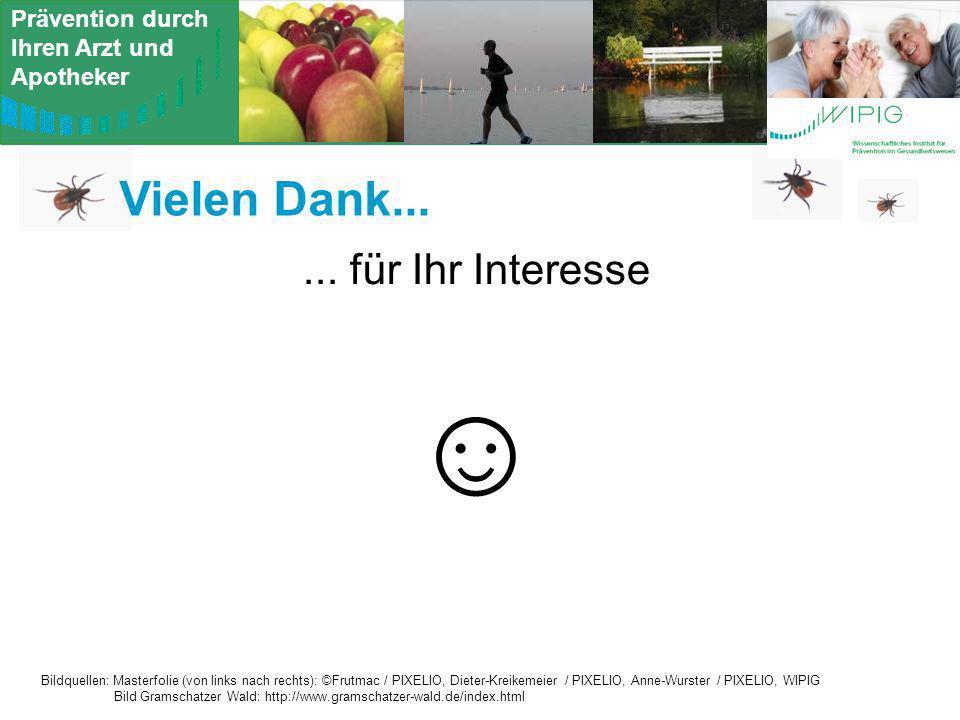 Prävention durch Ihren Arzt und Apotheker Vielen Dank...... für Ihr Interesse Bildquellen: Masterfolie (von links nach rechts): ©Frutmac / PIXELIO, Di