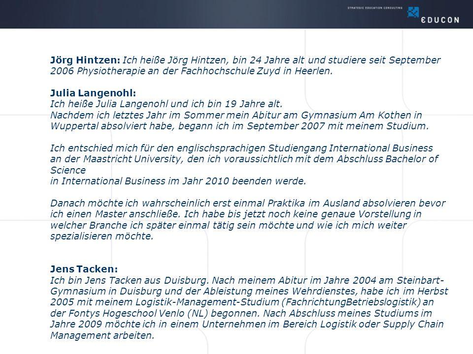 6) Katrin Horst studiert an der Uni Nimwegen Unternehmenskommunikation.
