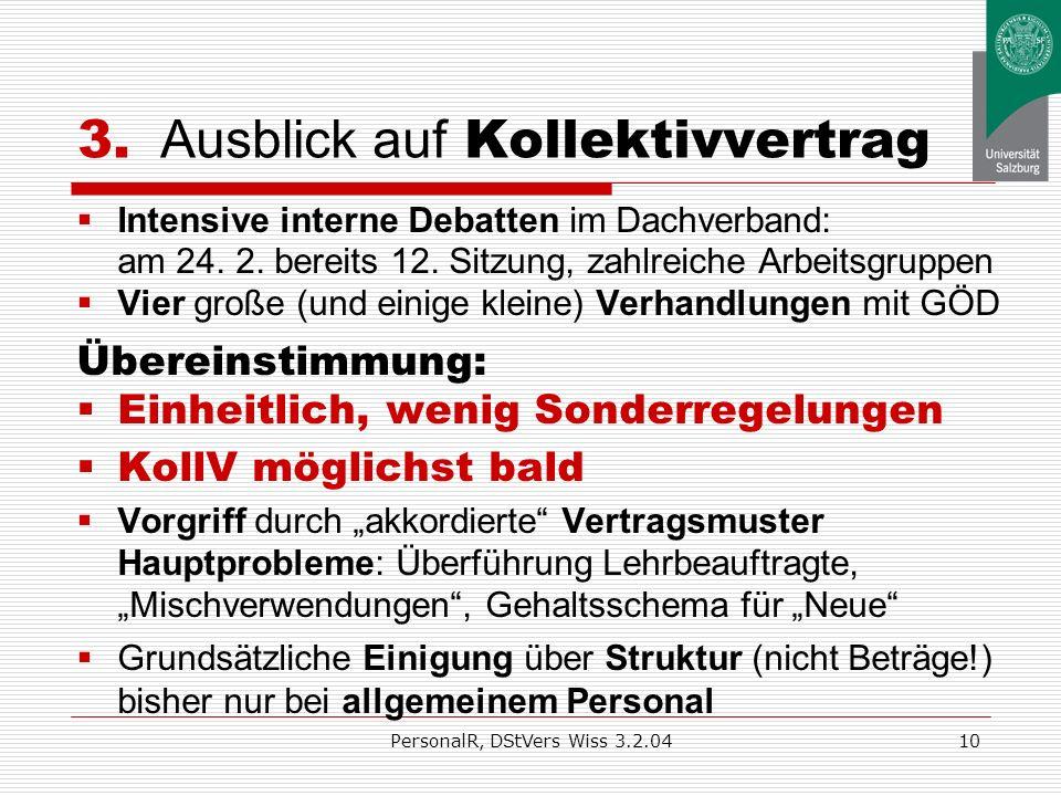PersonalR, DStVers Wiss 3.2.049 2.2 Neue Regelungen über Beendigung Kündigung: günstigere Fristen/ Termine als VBG (AG: 6 Wo. bis 5 Mon. zum Quartals-