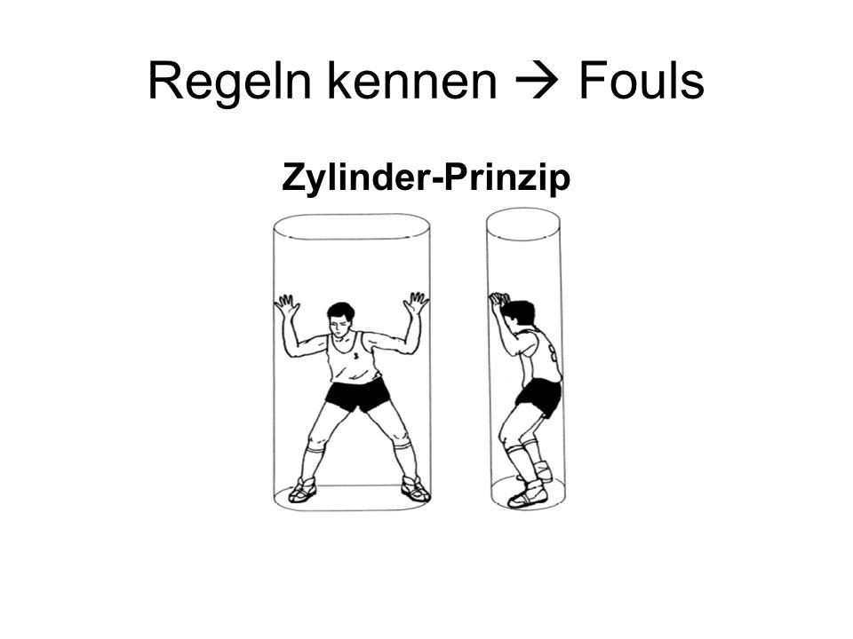 Regeln kennen Fouls Zylinder-Prinzip