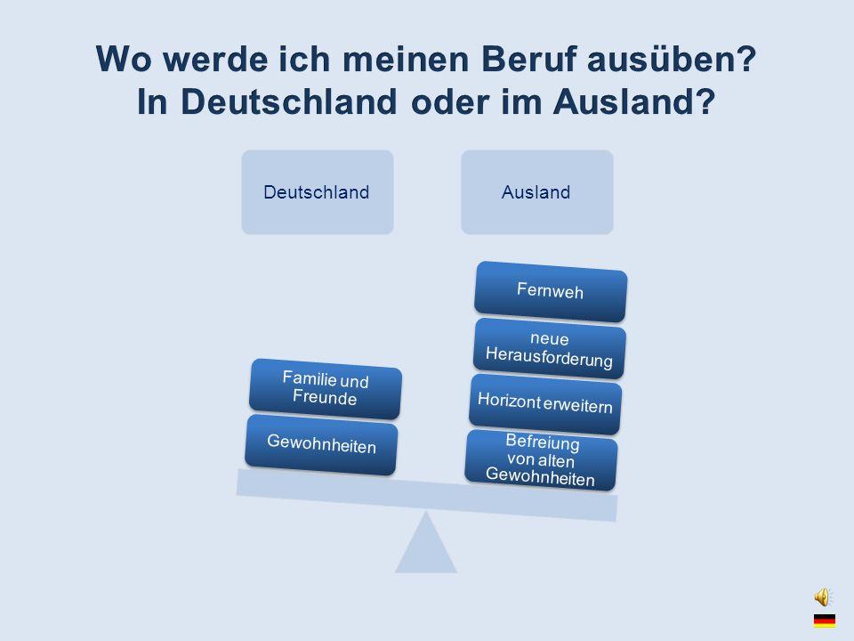 DeutschlandAusland Befreiung von alten Gewohnheiten Horizont erweitern neue Herausforderung FernwehGewohnheiten Familie und Freunde