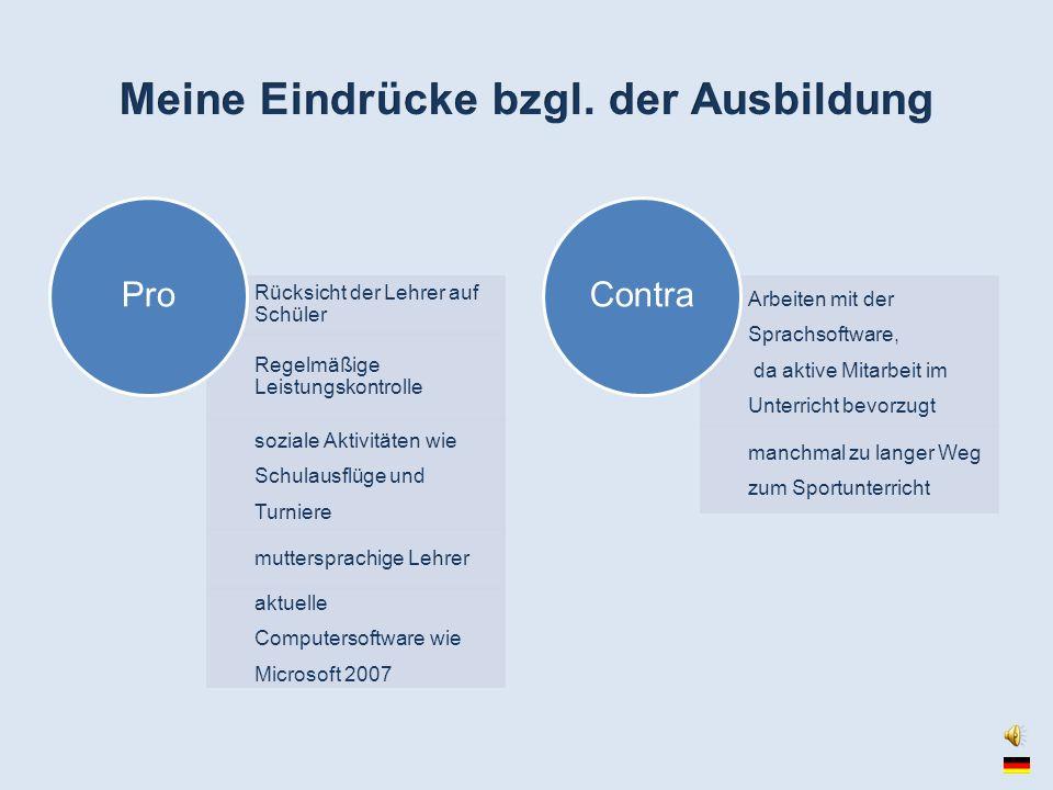 Sprachen kaufmännische Ausbildung juristische Ausbildung