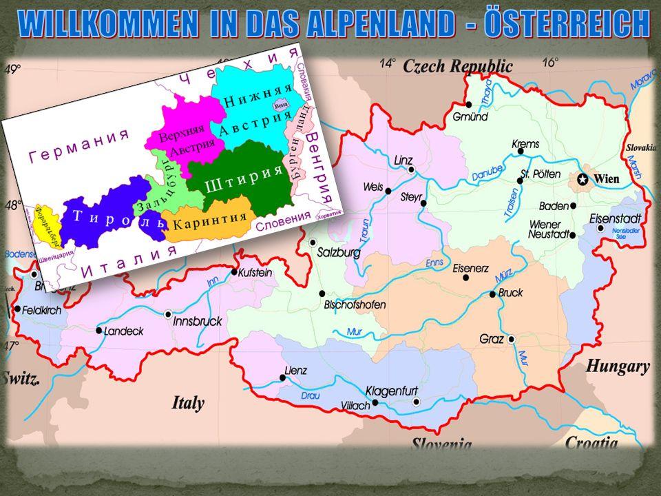 Der Titel des Landes stammt von dem Lateinischen Ostarrichi «das östliche Land».
