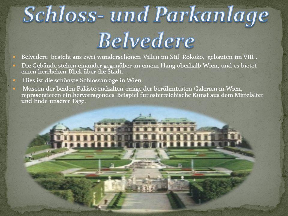 Belvedere besteht aus zwei wunderschönen Villen im Stil Rokoko, gebauten im VIII.