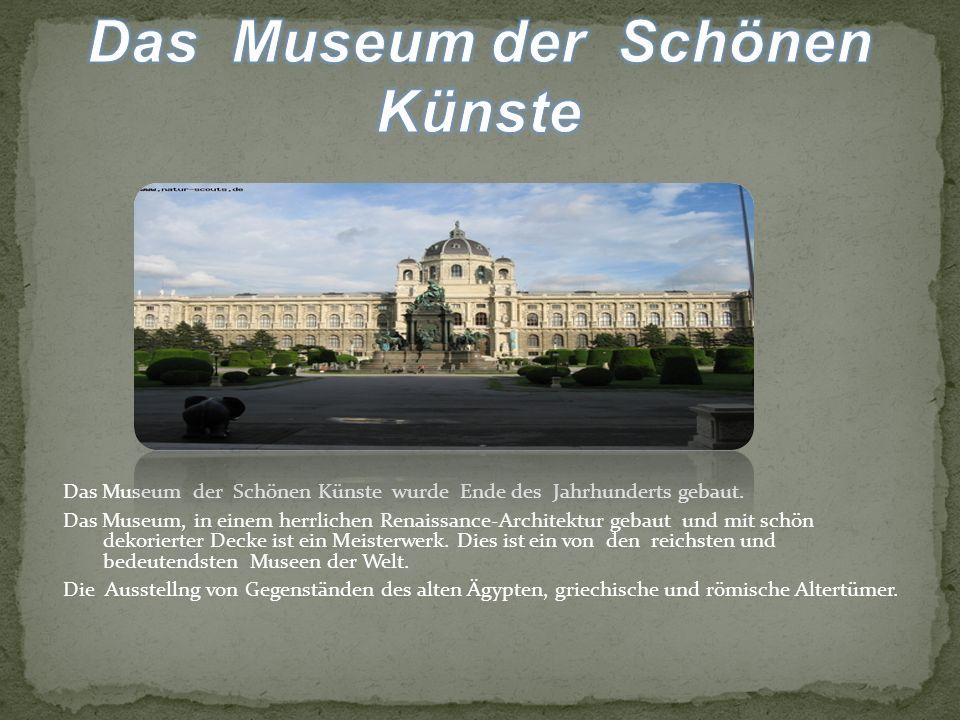 Das Museum der Schönen Künste wurde Ende des Jahrhunderts gebaut.