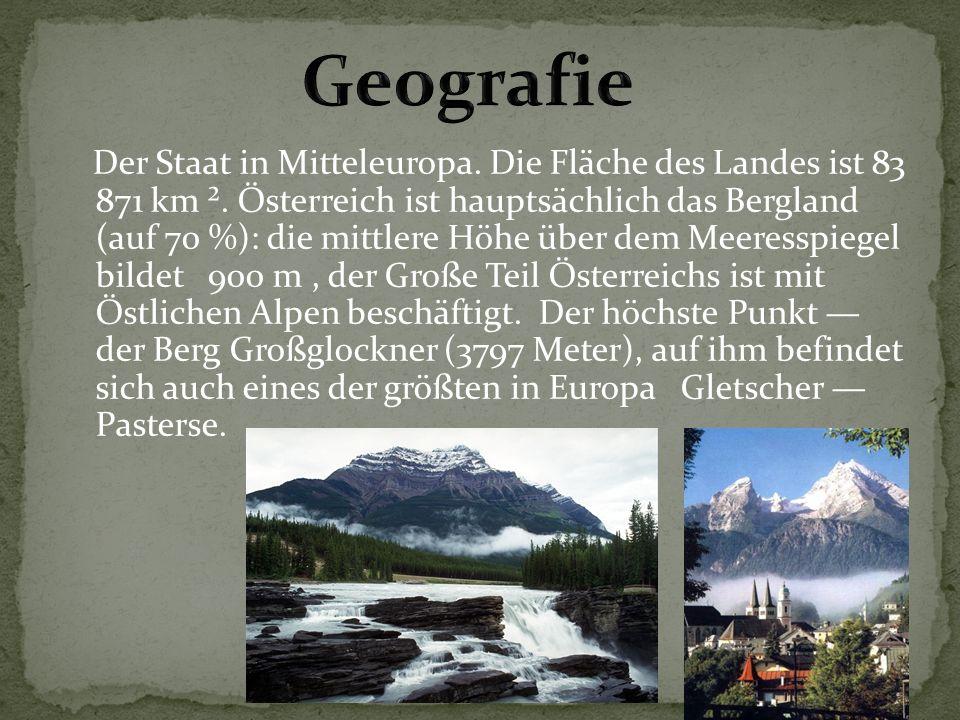 Der Staat in Mitteleuropa.Die Fläche des Landes ist 83 871 km ².
