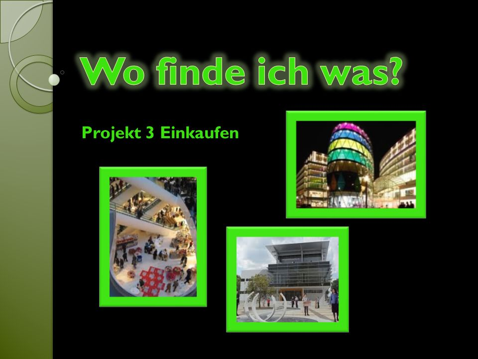 Projekt 3 Einkaufen