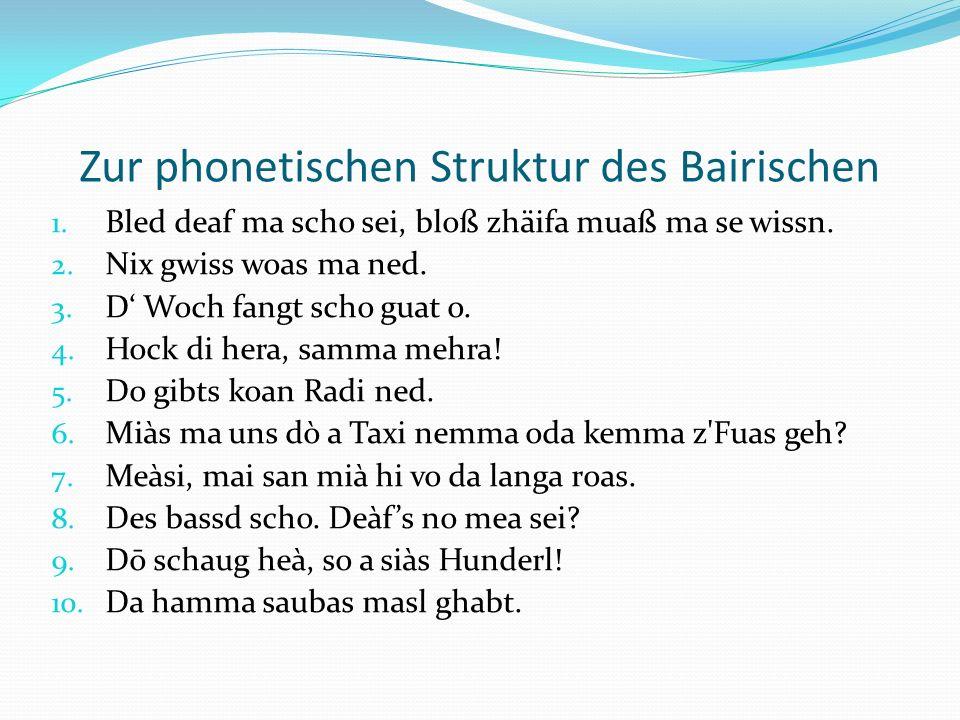 Bairisch musikalisch