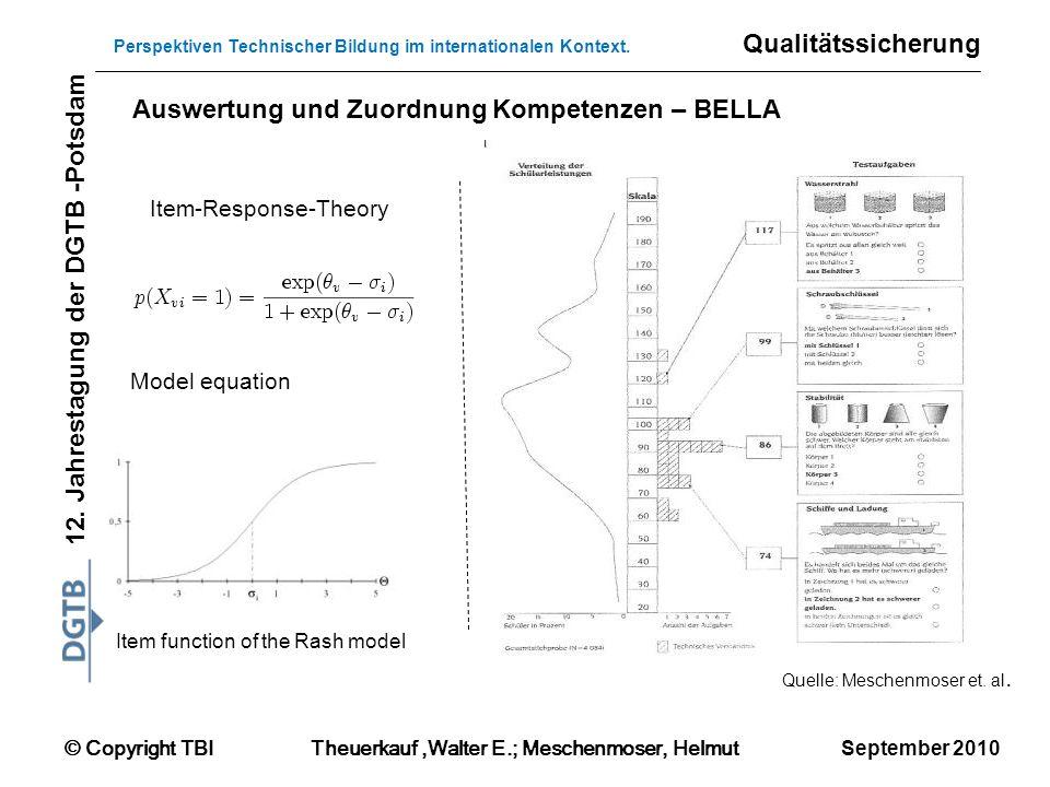 © Copyright TBITheuerkauf,Walter E.; Meschenmoser, Helmut 12. Jahrestagung der DGTB -Potsdam Perspektiven Technischer Bildung im internationalen Konte