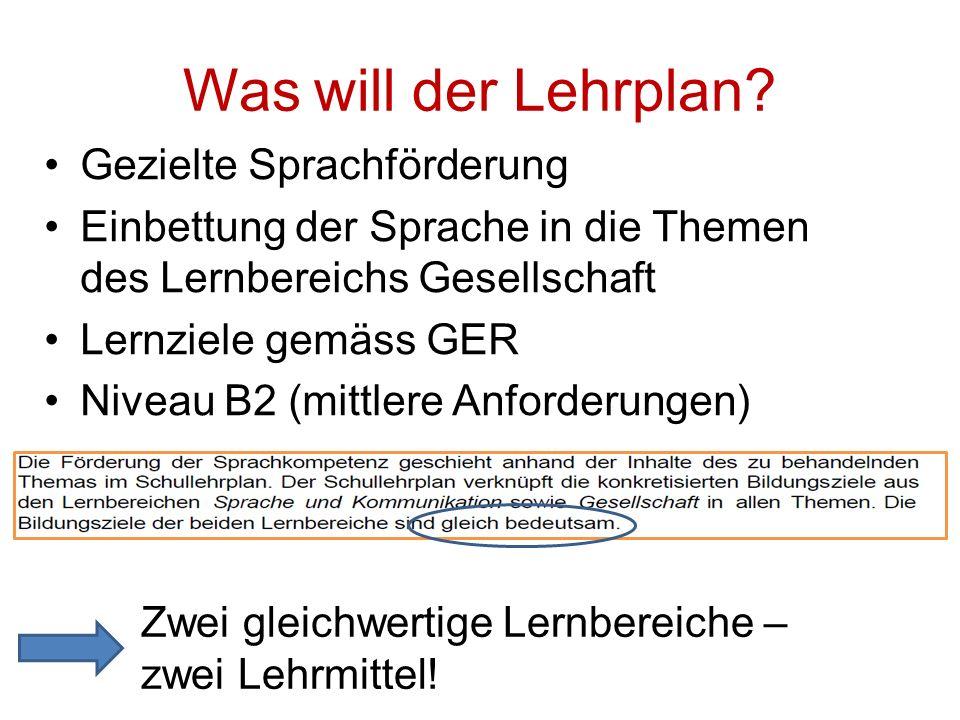 Verknüpfung der beiden Lernbereiche in «Deutsch im ABU» «Deutsch im ABU» Seite 8