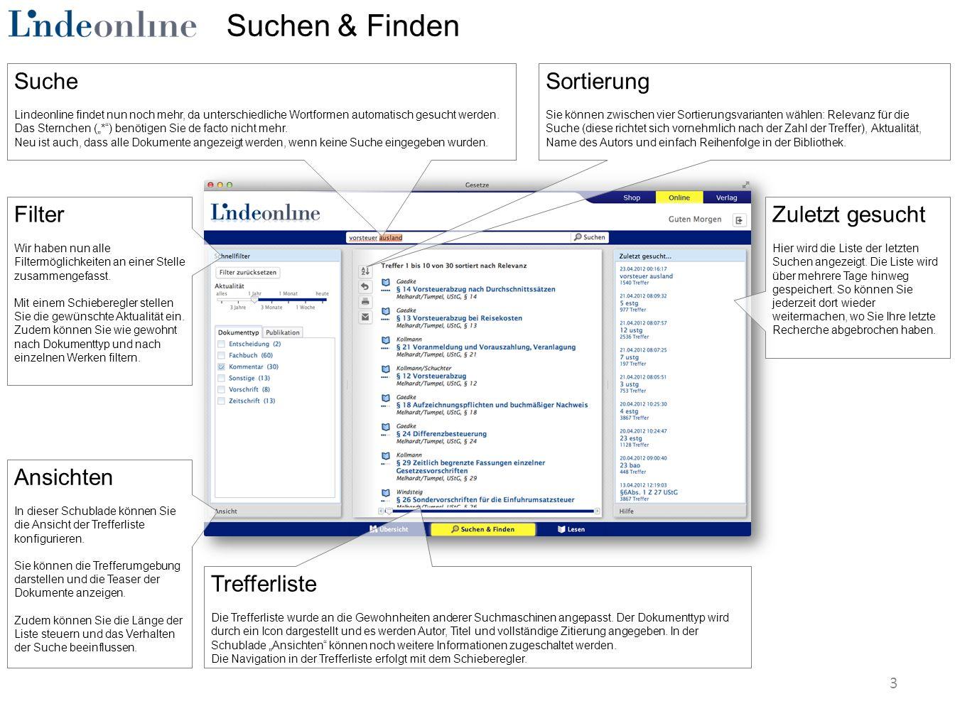 Suchen & Finden Filter Wir haben nun alle Filtermöglichkeiten an einer Stelle zusammengefasst.
