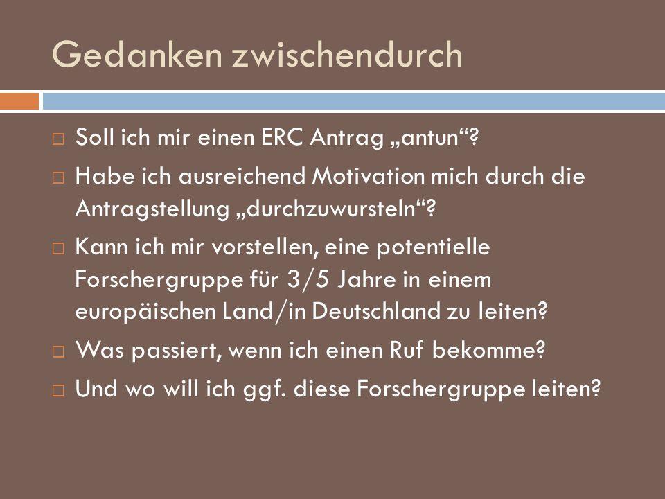 ERC New Communication II 24.3.2009: interview details 10 Minuten Projektpräsentation inkl.