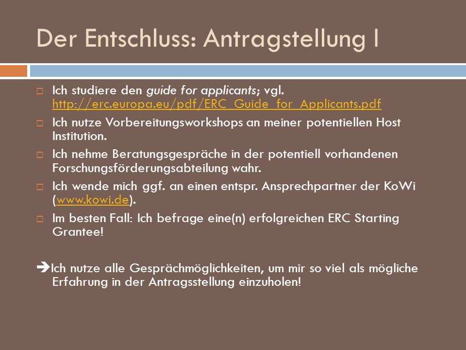 ERC New Communication III 26.5.2009: Email: 16.48 Uhr I am very pleased to inform you...