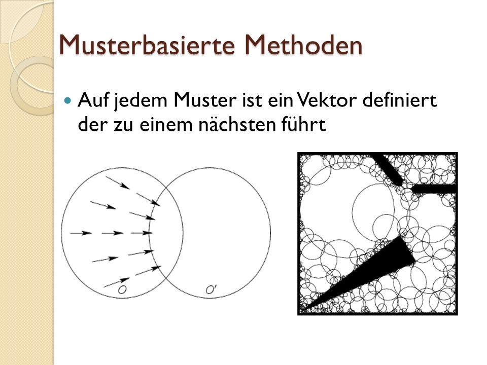 Musterbasierte Methoden Auf jedem Muster ist ein Vektor definiert der zu einem nächsten führt