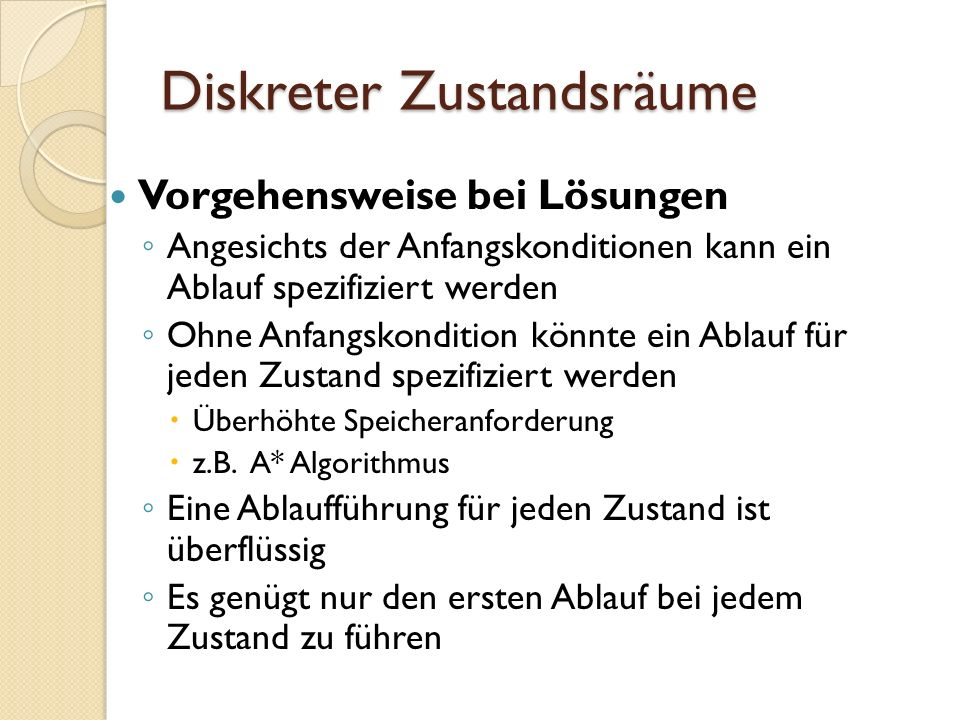 Navigationsfunktionen in diskreten Zustandsraum Definition eine optimale Navigationsfunktion ist eine Navigationsfunktion, das den Grundsatz der Optimalität erfüllt: