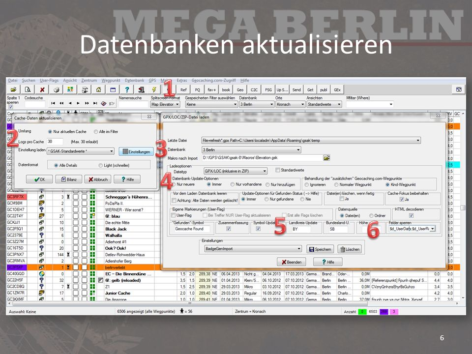 Datenbanken aktualisieren 6