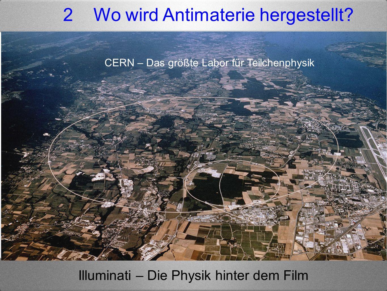 Illuminati – Die Physik hinter dem Film 2 Wo wird Antimaterie hergestellt? CERN – Das größte Labor für Teilchenphysik