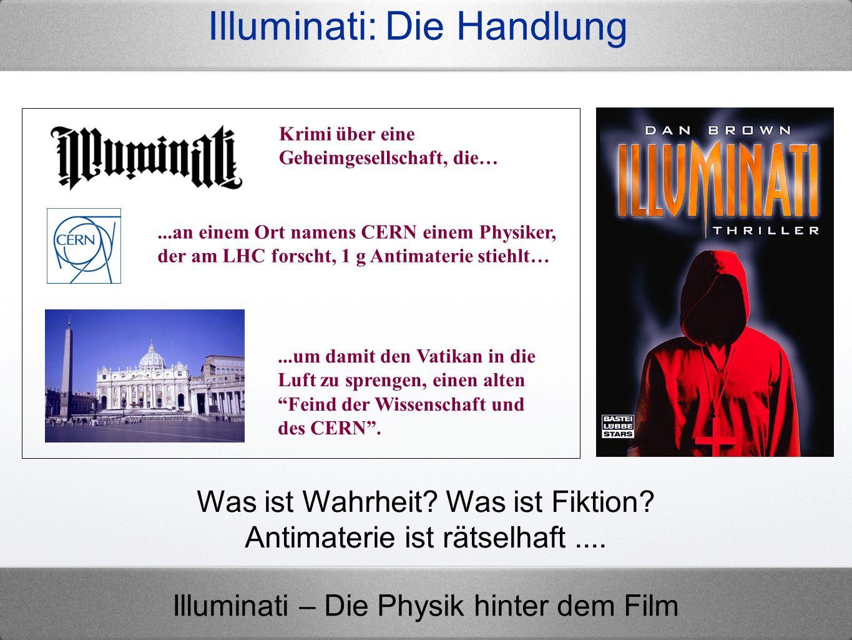 Illuminati – Die Physik hinter dem Film 8 Athena-Experiment (AEGIS) Quelle: Wikipedia Waagerechter Wurf Dipole im inhomo- genen el.