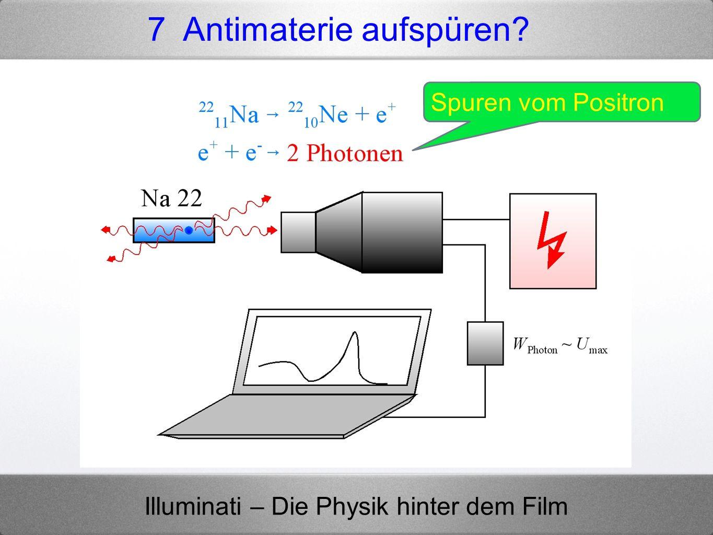 Illuminati – Die Physik hinter dem Film 7 Antimaterie aufspüren? Spuren vom Positron
