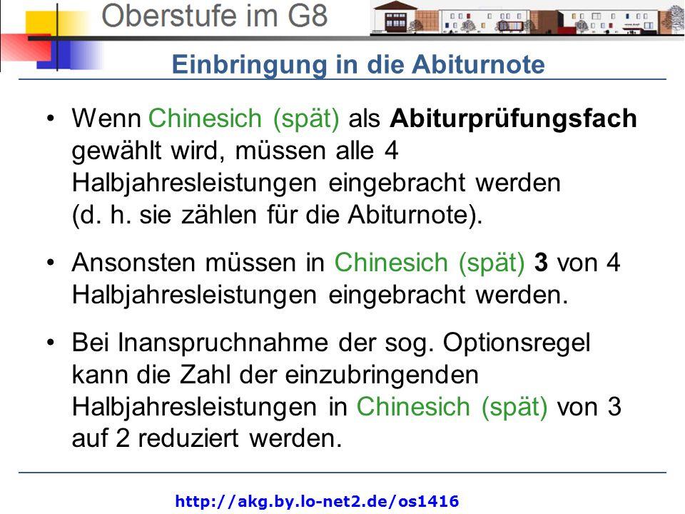 http://akg.by.lo-net2.de/os1416 Pflicht und - WahlpflichtbereichHJL Deutsch4 (von 4) Mathematik4 (von 4) Fremdsprache 1 (E, F, L, Gr, It, Sp, Ru)4 (von 4) Religionslehre (bzw.
