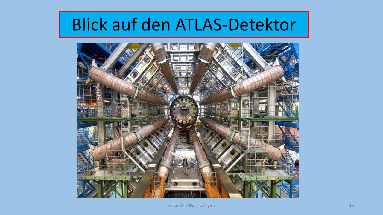 Amand Fäßler, Tübingen15 Blick auf den ATLAS-Detektor