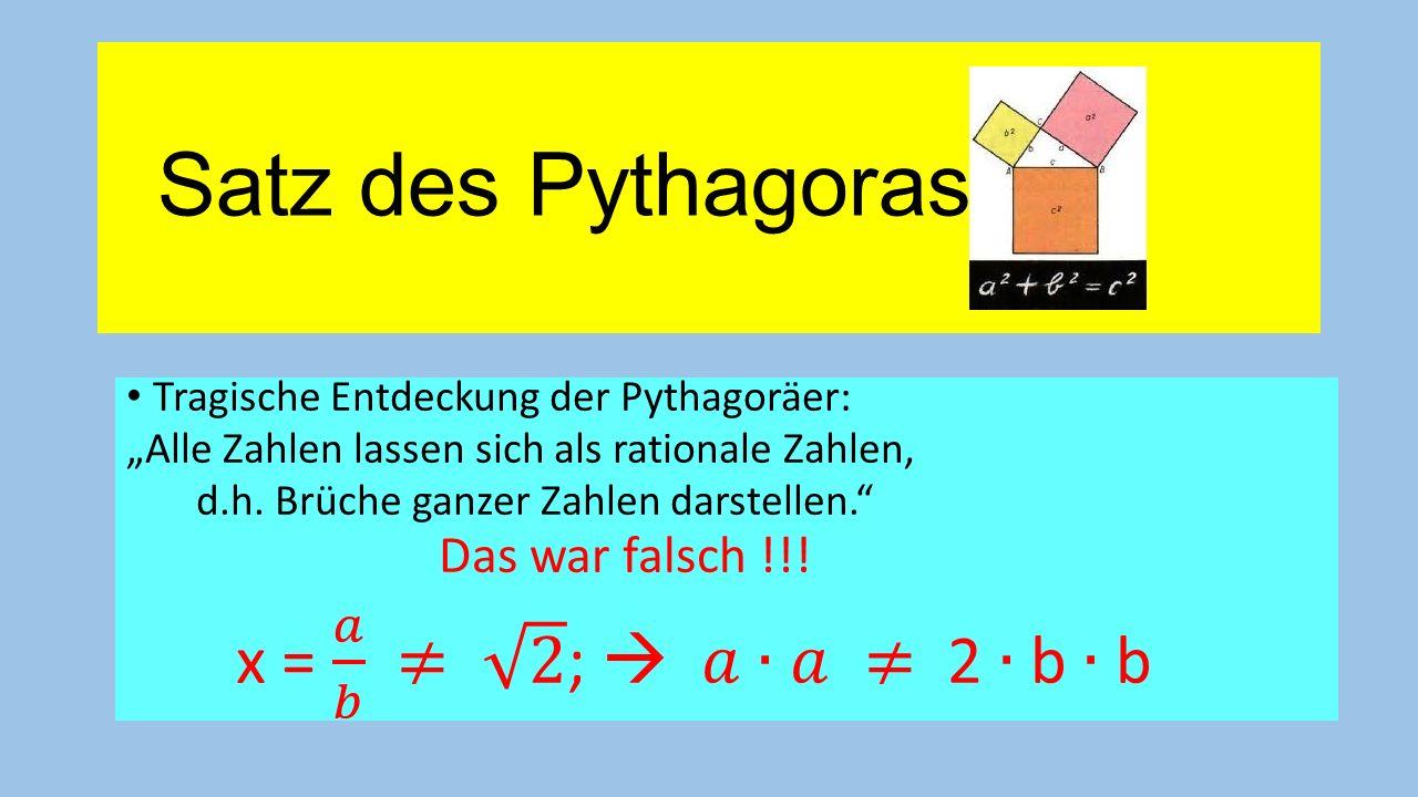 Satz des Pythagoras: