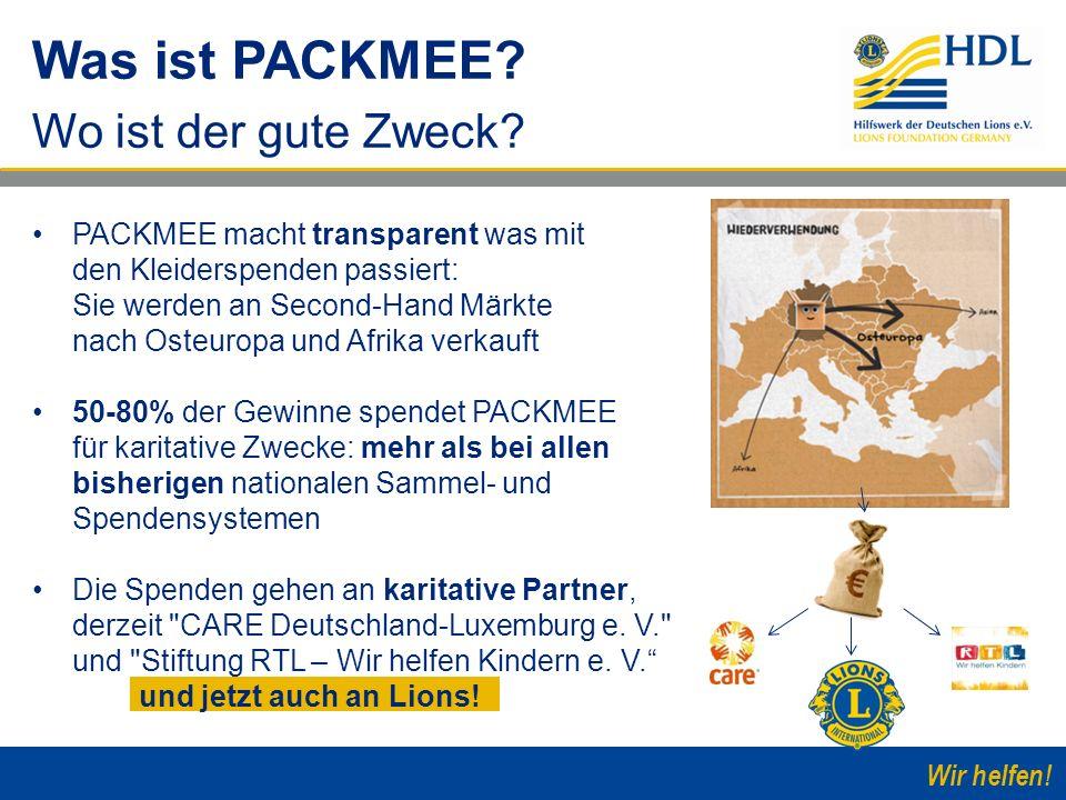 Wir helfen! PACKMEE macht transparent was mit den Kleiderspenden passiert: Sie werden an Second-Hand Märkte nach Osteuropa und Afrika verkauft 50-80%