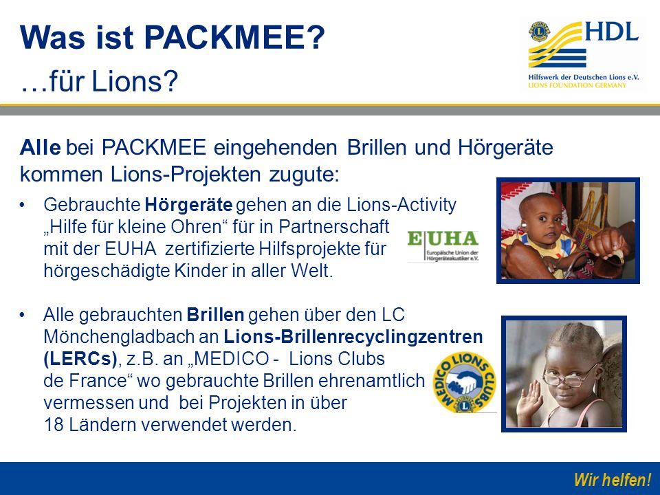 Wir helfen! Gebrauchte Hörgeräte gehen an die Lions-Activity Hilfe für kleine Ohren für in Partnerschaft mit der EUHA zertifizierte Hilfsprojekte für